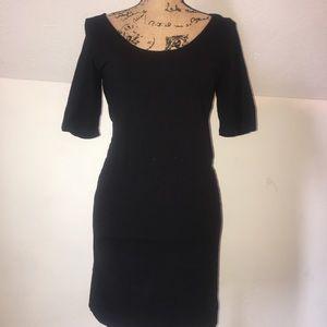 H&M NWOT Medium Black Bodycon Midi Dress